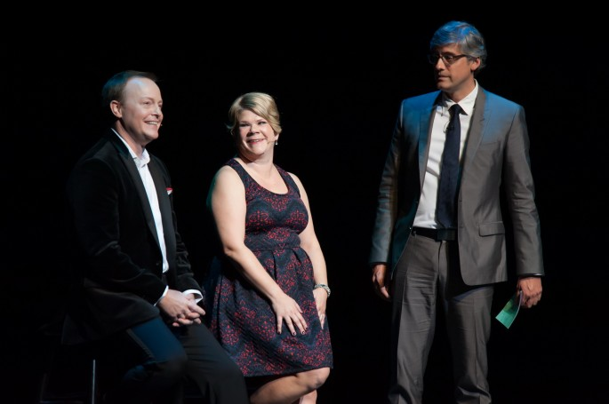 Segerstrom Center - Into the Woods Reunion - Ben Wright, Danielle Ferland, Mo Rocca - by Doug GIfford (2)