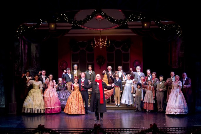 The cast of South Coast Repertory's 2013 production of A CHRISTM